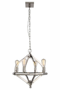 "1472 Illumina Collection Pendant lamp D:20"" H:21"" Lt:4 Polished Nickel Finish"