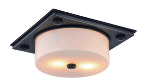 "Travis Collection Flush Mount L:12.5"" W:12.5"" H:5"" Lt:2 Bronze Finish"