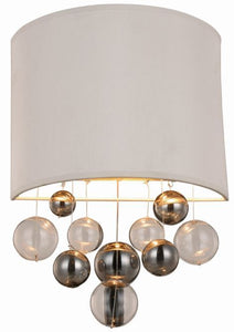 "Milan Collection Wall Sconce W:10"" H:16"" E:4"" Lt:1 Vintage Nickel Finish"