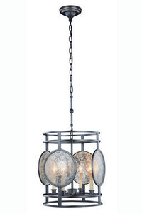 "Twilight Collection Pendant Lamp D:15"" H:18"" Lt:4 Bronze Finish"
