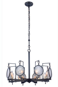 "Twilight Collection Pendant Lamp D:28"" H:22"" Lt:8 Bronze Finish"