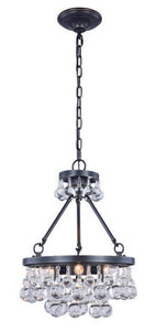"Bettina Collection Pendant Lamp D:15"" H:19"" Lt:3 Bronze Finish Royal Cut Clear"