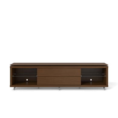 Manhattan Comfort Lincoln TV Stand 2.2 with Silicone Casters in Nut Brown