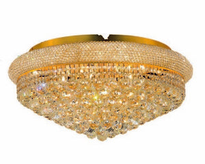 1800 Primo Collection Flush Mount D28in H13in Lt:15 Gold Finish (Swarovski Spectra Crystals)