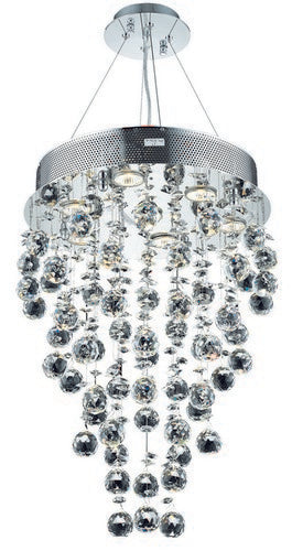 2006 Galaxy Collection Hanging Fixture D16in H24in Lt:7 Chrome Finish (Strass/Elements Swarovski Crystal)