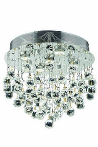 2006 Galaxy Collection Flush Mount H16in D16in Lt:5 Chrome Finish (Swarovski Elements Crystals)