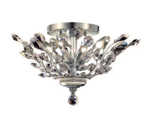 2011 Orchid Collection Flush Mount D20in H10in Lt:4 Chrome Finish (Swarovski Strass/Elements Crystals)