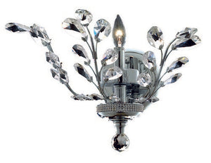 2011 Orchid Collection Wall Sconce W16in H14in E6in Lt:1 Chrome Finish (Swarovski Spectra Crystals)