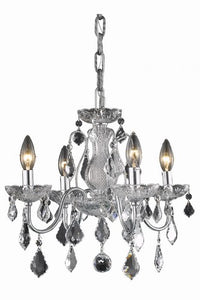 2015 St. Francis Collection Hanging Fixture D17in H15in Lt:4 Chrome Finish (Royal Cut Crystal)