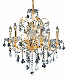 2015 St. Francis Collection Hanging Fixture D24in H21in Lt:6 Gold Finish (Royal Cut Crystals)