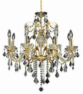 2015 St. Francis Collection Hanging Fixture D26in H23in Lt:8 Gold Finish (Royal Cut Crystals)