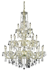 2015 St. Francis Collection Hanging Fixture D36in H49in Lt:12+8+4 Gold Finish (Royal Cut Crystals)