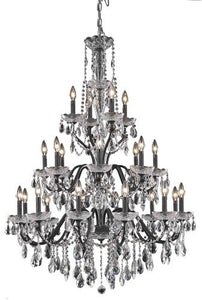 2016 St. Francis Collection Hanging Fixture D36in H49in Lt:12+8+4 Dark Bronze Finish (Royal Cut Crystals)