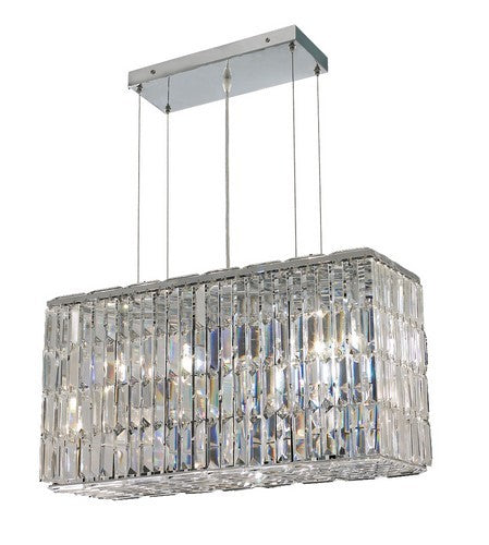2018 Maxime Collection Hanging Fixture L26in W9in H13in Lt:8 Chrome Finish (Swarovski Strass/Elements Crystals)