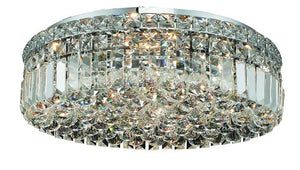 2030 Maxime Collection Flush Mount D20in H5.5in Lt:6 Chrome Finish (Royal Cut Crystals)