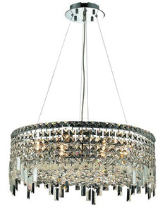 2031 Maxime Collection Hanging Fixture D24in H7.5in Lt:12 Chrome Finish (Swarovski Strass/Elements Crystals)