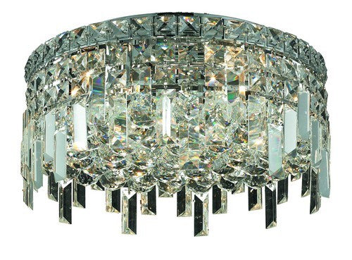 2031 Maxime Collection Flush Mount D16in H5.5in Lt:5 Chrome Finish (Elegant Cut Crystals)
