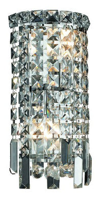 2031 Maxime Collection Wall Sconce W6in H12in E4in Lt:2 Chrome Finish (Swarovski Spectra Crystals)