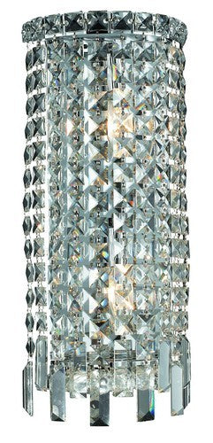 2031 Maxime Collection Wall Sconce W8in H16in E4in Lt:2 Chrome Finish (Elegant Cut Crystals)