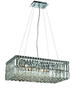 2034 Maxime Collection Hanging Fixture L24in W12in H7.5in Lt:6 Chrome Finish (Swarovski Strass/Elements Crystals)