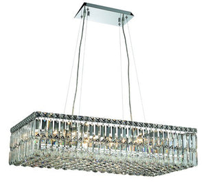 2034 Maxime Collection Hanging Fixture L32in W16in H7.5in Lt:16 Chrome Finish (Royal Cut Crystals)
