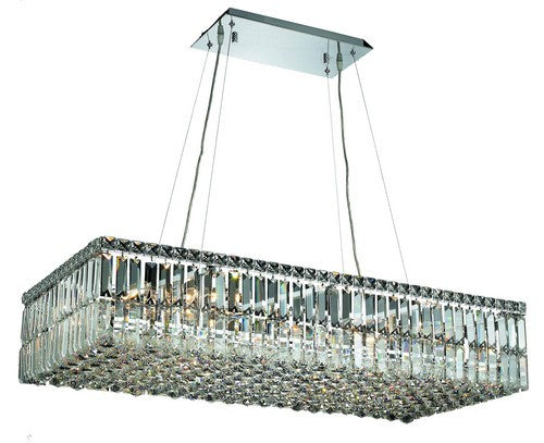 2034 Maxime Collection Hanging Fixture L36in W18in H7.5in Lt:16 Chrome Finish (Swarovski Strass/Elements Crystals)