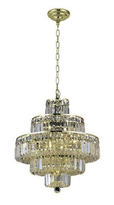 2038 Maxime Collection Hanging Fixture D20in H21in Lt:13 Gold Finish (Swarovski Strass/Elements Crystals)
