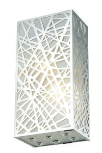 2078 Prism Collection Wall Sconce L6in W4in H12in Lt:2 Chrome Finish (Royal Cut Crystals)