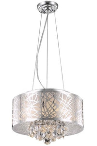 2079 Prism Collection Hanging Fixture D16in H10in LT:4 Chrome Finish (Royal Cut Crystals)