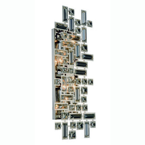 "Picasso Collection Wall Sconce W:22"" H:9"" E:3.5"" Lt:4 Chrome Finish Royal Cut Clear"