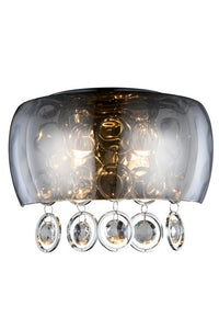 "Jordan Collection Wall Sconce W:11"" H:7.5"" E:5.5"" Lt:2 Chrome Finish Royal Cut Clear"
