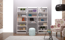 Accentuations by Manhattan Comfort Urbane Carpina Ladder Desk with 2 Floating Shelves and 1- Tabletop and Cubby in White