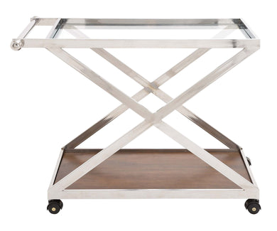 The Cool Stainless Steel Wood Glass Cart