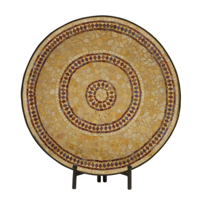 Captivating Metal Mosaic Platter With Easel