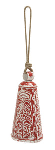 Artistically Styled Metal Wood Embossed Bell