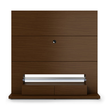Manhattan Comfort Riverside Freestanding Theater Entertainment Center with LED Lights in Nut Brown