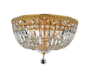 2528 Tranquil Collection Flush Mount D18in H11in Lt:8 Gold Finish (Swarovski Strass/Elements Crystals)