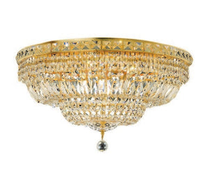 2528 Tranquil Collection Flush Mount D24in H14in Lt:12 Gold Finish (Elegant Cut Crystals)