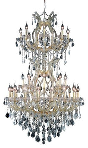 2800 Maria Theresa Collection Large Hanging Fixture D36in H56in Lt:32+2 Gold Finish (Swarovski Strass/Elements Crystals)