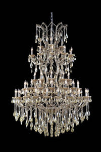 2800 Maria Theresa Collection Large Hanging Fixture H72in D54in Lt:61 Golden Teak Finish (Swarovski Elements Golden Teak Crystals)
