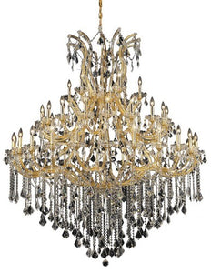 2800 Maria Theresa Collection Large Hanging Fixture D60in H72in Lt:48+1 Gold Finish (Swarovski Strass/Elements Crystal)
