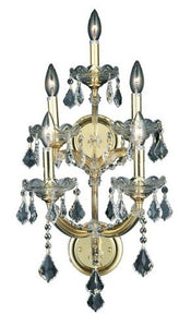2800 Maria Theresa Collection Wall Sconce W12in H29.5in E11.5in Lt:5 Gold Finish (Royal Cut Crystal)