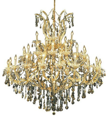 2801 Maria Theresa Collection Large Hanging Fixture D52in H54in Lt:40+1 Gold Finish (Royal Cut Golden Teak)