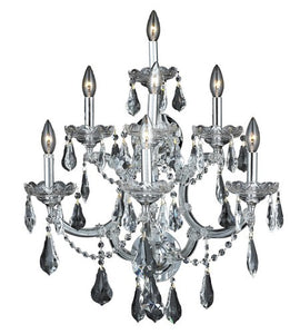 2801 Maria Theresa Collection Wall Sconce W22in H29.5in E15.5in Lt:7 Chrome Finish (Royal Cut Crystal)