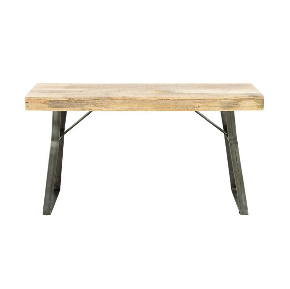 Classic Metal Wood Console Table