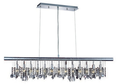 3100 Chorus Line Collection Hanging Fixture L48in H12in Lt:13 (Royal Cut Crystals)