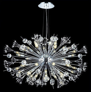 3400 Cyclone Collection Large Hanging Fixture D46in H25.5in Lt:44 (Elegant Cut Crystals)