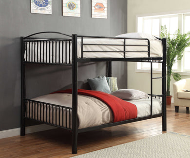 ACME Cayelynn Full Over Full Bunkbed in Silver