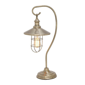 Marvelous Metal Nickel Table Lamp With Bulb