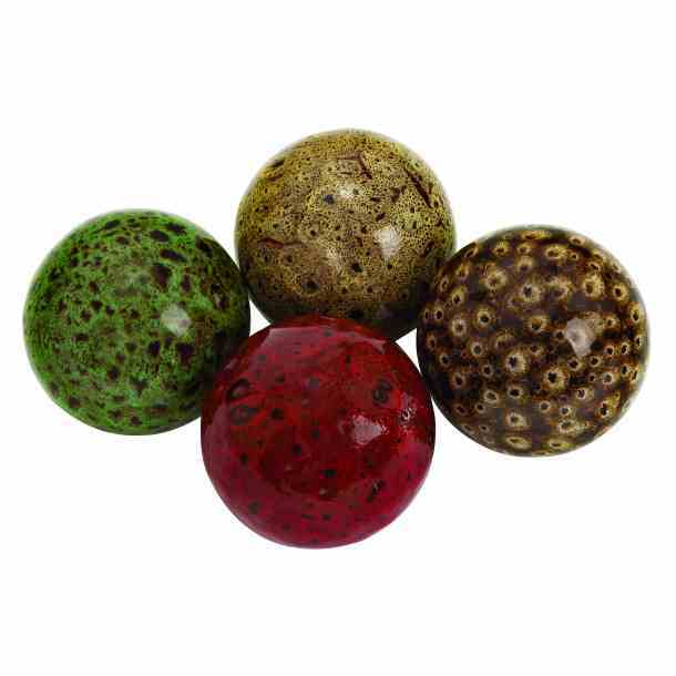 Colorful Ceramic Ball- Set Of 4 - Benzara
